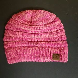 C.C beanie pink new without tags